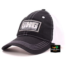 AVERY GREENHEAD GEAR GHG LOGO MESH BACK TRUCKER HAT BALL CAP BLACK & WHITE