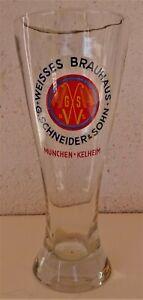 Weißbierglas Weizenbierglas WEISSES BRAUHAUS G. Schneider und Sohn München