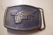 MAGICAST BRASS RED WING BELT BUCKLE ADVERTISING