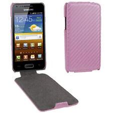 Flip Tasche Struktur für Samsung i9070 Galaxy S Advance in rosa Etui Case Hülle