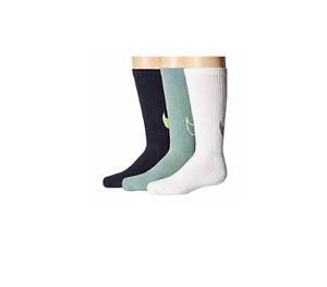 Nike Youth 3 PK Graphic Cushioned Crew Socks, Various Sizes: Small or Medium
