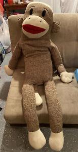 """BIG/GIANT/HUGE 42"""" Sock Monkey!  Large stuffed animal 2011 MAXX"""