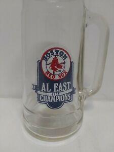 Vintage Boston Red Sox 1988 AL East Champions Glass Beer Mug