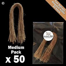 50 x Natural 1-Ply Rustic String/Twine/Hessian for Wedding/Gift/Crafts Hang Tags