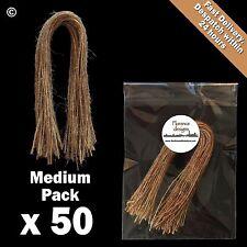50 X Natural 1-ply Rústico string/twine/hessian para wedding/gift/crafts Etiquetas Colgantes