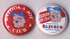 BAZOOKA JOE CLUB repro Pair of Badge Button Pins