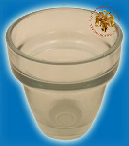 Orthodox Vigil Oil Lamp Replacement Cup Different Colours Ersatzglas Ikonenampel