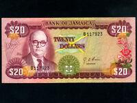 Jamaica:P-63,20 Dollars,1960 (1976) * Noel N. Nethersole *