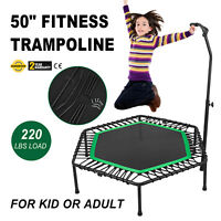 50inch Exercise Fitness Trampoline Jump Training Steel Frame Gym Noiseless