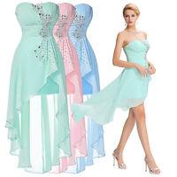 Damen Sommer Kleid Ballkleider Abendkleid Perlen Partykleid BrautjungfernKleid