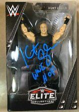 "WWE KURT ANGLE  Signed Elite Shield  Action Figure ""Ringside Exclusive"""