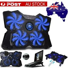 Marvo FN30 Double USB 4 Blue Fans Computer Cooler Notebook Laptop Cooling Pad