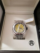 Armand Nicolet - Automatic SH3 Diver Yellow Military Black Leather Strap Swiss M