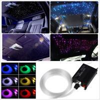 300Pcs Romantic Car Led Ceiling Light Fiber Optic Star Kit RGBW Light Source DIY
