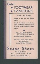 1937 Cleveland Oh Szabo Shoes Easter New Styles For Women & Children
