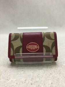 COACH  Stainless Steel Stainless Bordeaux Fashion Key case 492 From Japan
