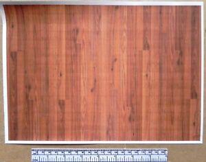 1/12th dolls house self adhesive vinyl - A4 sheet - wood plank flooring - Oak