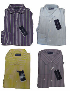 Ralph Lauren Purple Label Italy Mens Striped Button Down Sport Dress Shirt New
