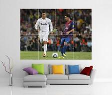 MESSI RONALDO REAL MADRID BARCELONA FC GIANT WALL ART PRINT POSTER H110