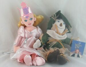 Wizard of Oz Plush Dolls Warner Bros Store, Lot of 2 Glinda and Scarecrow