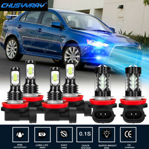 For 2007 - 2018 Nissan Altima Combo LED Headlight High Low + Fog Light Bulbs Kit