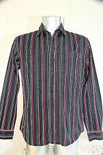chemise noire rayée multicolore EDEN PARK club house taille M EXCELLENT ÉTAT