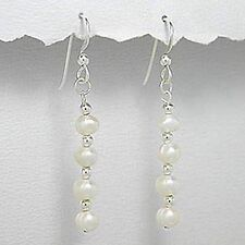 .925, STERLING SILVER AND PEARL DANGLE EARRINGS