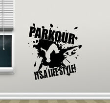 Parkour Wall Decal Extreme Sport Vinyl Sticker Gym Poster Decor Art Mural 53hor