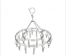 20 Peg Stainless Steel Hanging Sock Dryer - Laundry Indoor Outdoor Clothes Airer
