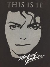Michael Jackson T-Shirt This Is It Logo Big Graphic Tour Concert King Pop Size L