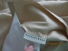 """POTTERY BARN SILK CURTAIN PANEL 104"""" X 124"""" WHEAT FROM 2005 NEW OLD STOCK UNUSED"""