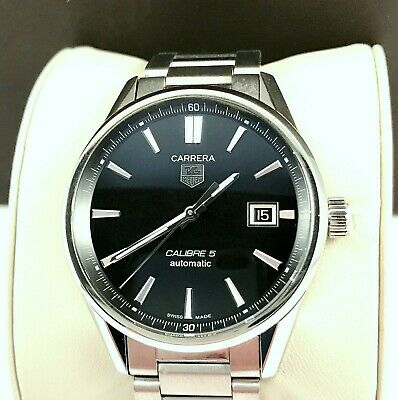 2018 Tag Heuer Carrera Calibre 5 Mens Watch Automatic Model WAR211A in Exc.Cond.
