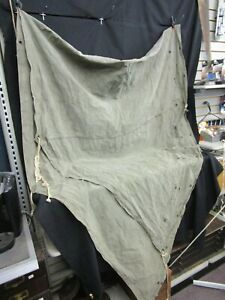 Vintage U.S. Military Pup Tent Half-Shelter Canvas ONLY Large Blank