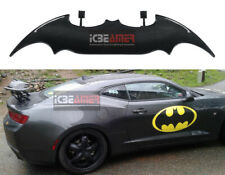 "Batman Style 57"" Real Carbon Fiber Rear Trunk Spoiler Wing + LED Brake Light D4"