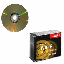100 Imation DVD+R Lightscribe 16x 4.7GB 120 Mins Video Data Slim Jewel Case
