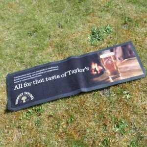 Timothy Tim Taylors Beer Bar Top Drip Mat Rubber Back Home Bar Pub Advertising