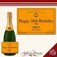 L17 Personalised Prosecco Brut Yellow Label Bottle - Perfect Gift Any Occasion!