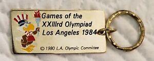 1984 OLYMPICS Keychain Los Angeles Key Ring - Games of the XXIII Olympiad LA84