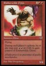 MTG 1x EMBERWILDE DJINN - Mirage *Rare Fly DEUTSCH NM*