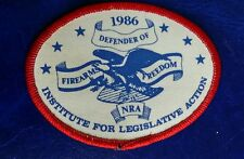 NATIONAL RIFLE ASSOCIATION DEFENDER OF FIREARMS FREEDOM 1986 NRA PATCH