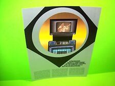 Rowe AMI VIDEO JUKEBOX Original NOS Jukebox Phonograph Music Promo Sales Flyer