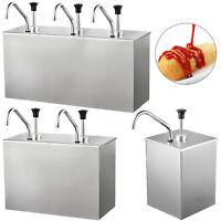 1/2/3 Bucket Sauce Dispenser Pump Squeeze Condiment Dispensing Stainless Steel