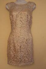 Vestido de encaje BNWT Lipsy Nu Talla 12 RRP £ 70 Fiesta Noche Crema Glam