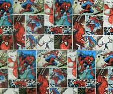 Patchwork Quilting Sewing Fabric SPIDERMAN COMIC Kids Quilt Panel 32x110cm New