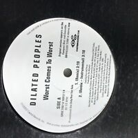 """Dialated Peoples- Worst Comes To Worst- Capitol PROMO 12"""" VG"""