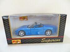 MAISTO SUPERIOR 'CHEVROLET CORVETTE C5 - BLUE' MOTORIZED. MIB/BOXED. 1:38