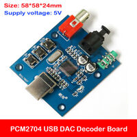 PCM2704 USB DAC to S/PDIF Sound Card Audio Decoder Board 5V 3.5mm Analog Output