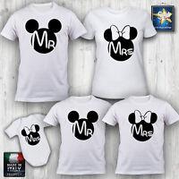 T-shirt magliette famiglia TOPOLINO MINNI MS MRS NATALE COMPLEANNO Idea Regalo
