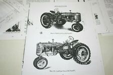 IH Farmall C (FC) Vintage Manual Reprint, 70 pages, Operating, Maintenance, more