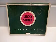 """Vintage LUCKY STRIKE CIGARETTE BOX Green Cardboard Empty It's Toasted 5"""""""